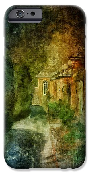 Pathway iPhone Cases - Walking In A Williamsburg Garden iPhone Case by Lois Bryan
