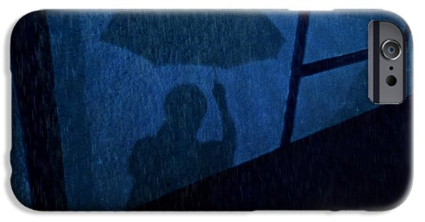 Sheets iPhone Cases - Walking In The Rain iPhone Case by Kathy Krause