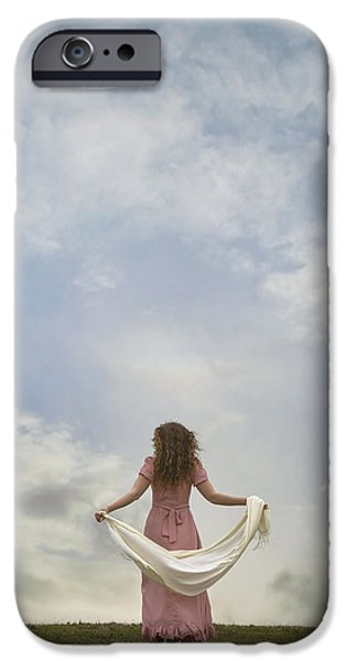 Shawl iPhone Cases - Walking Into The Sky iPhone Case by Joana Kruse