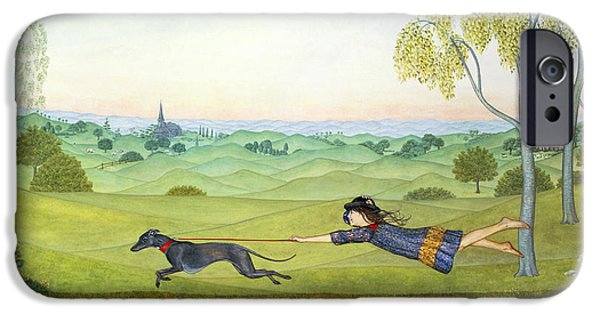 Drag iPhone Cases - Walking the Dog  iPhone Case by Ditz