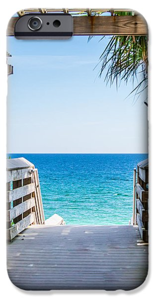 Shade Cover iPhone Cases - Walkway to Paradise iPhone Case by Shelby  Young