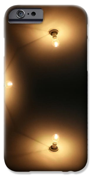 Night Lamp iPhone Cases - Wall Lighting iPhone Case by Ryan Jorgensen