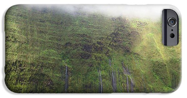 Torn Digital iPhone Cases - Wall of Tears at Molokai Island iPhone Case by Stacia Blase