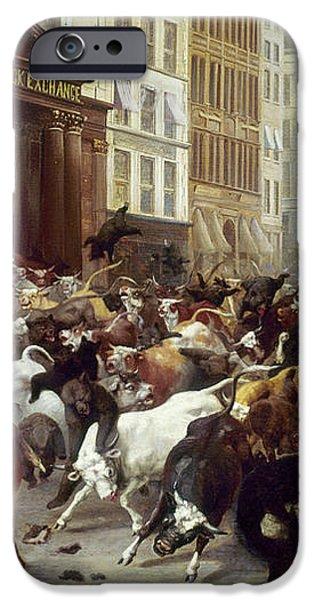 WALL STREET: BEARS & BULLS iPhone Case by Granger