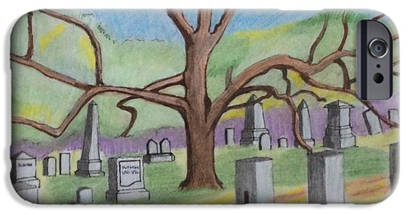 Cemetary iPhone Cases - Walnut Grove Cemetary iPhone Case by Paul Meinerth