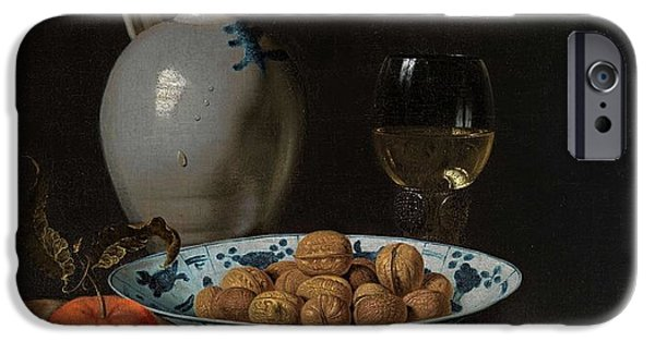 Ledge iPhone Cases - Walnuts in a Wanli porcelain bowl  iPhone Case by MotionAge Designs