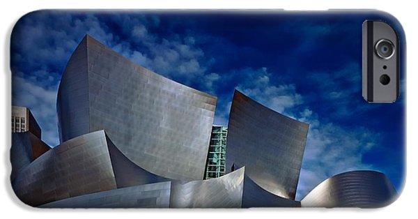 Symphony Hall iPhone Cases - Walt Disney Concert Hall iPhone Case by Anthony Dezenzio