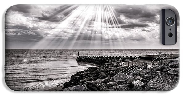 North Sea Photographs iPhone Cases - Walton-On-The-Naze iPhone Case by Martin Newman
