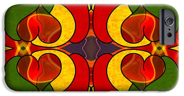 Red Abstract iPhone Cases - Wandering Levels Of Transformation Abstract Art by Omashte iPhone Case by Omaste Witkowski