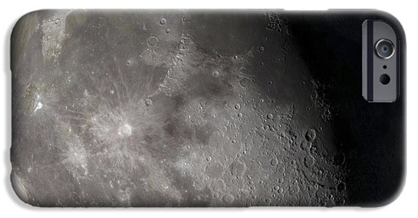 Composite iPhone Cases - Waning Gibbous Moon iPhone Case by Stocktrek Images