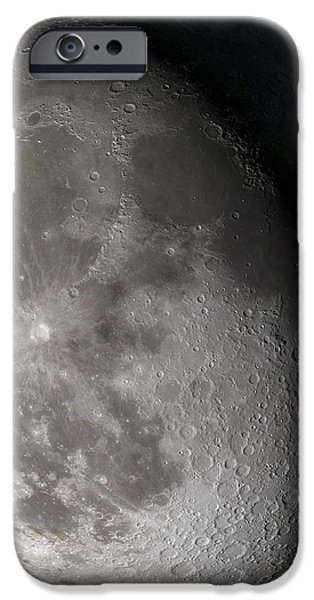 Waning Gibbous Moon iPhone Case by Stocktrek Images