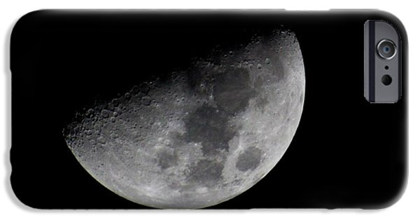 Night iPhone Cases - Waning Moon iPhone Case by Lynn Lisitza