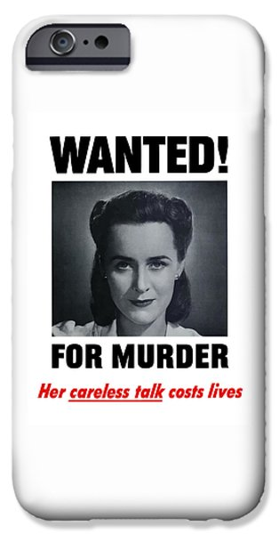 Murder iPhone Cases - Wanted For Murder iPhone Case by War Is Hell Store
