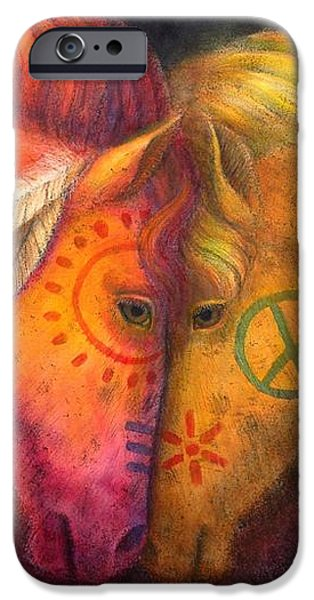 War Horse and Peace Horse iPhone Case by Sue Halstenberg