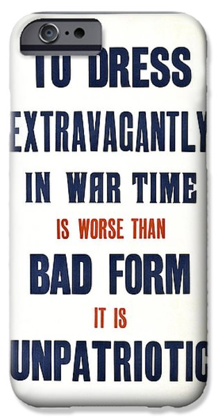 Patriots iPhone Cases - War Time Dress  1915 iPhone Case by Daniel Hagerman