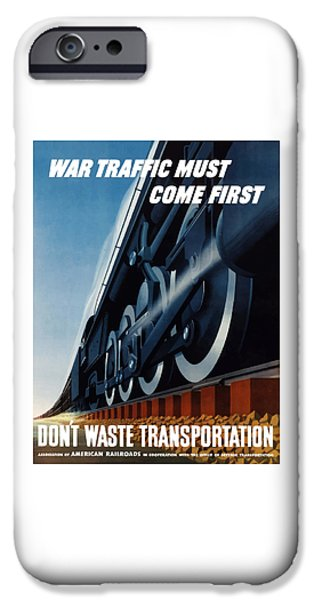 Transportation Mixed Media iPhone Cases - War Traffic Must Come First iPhone Case by War Is Hell Store