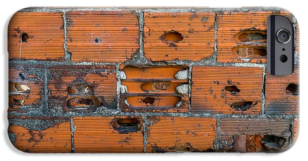Rust iPhone Cases - War Wall iPhone Case by Maximiliano Ripani