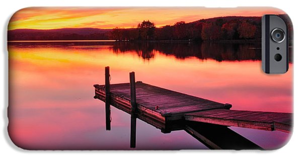 Connecticut Landscape iPhone Cases - Waramaug Sunset iPhone Case by Thomas Schoeller