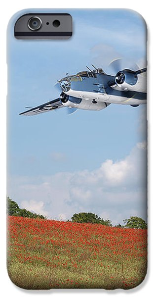 Meadow Photographs iPhone Cases - Warbird Returns iPhone Case by Gill Billington