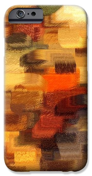 Warm Colors Abstract iPhone Case by Carol Groenen