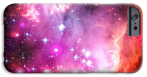 Constellations iPhone Cases - Warm Galaxy iPhone Case by Johari Smith