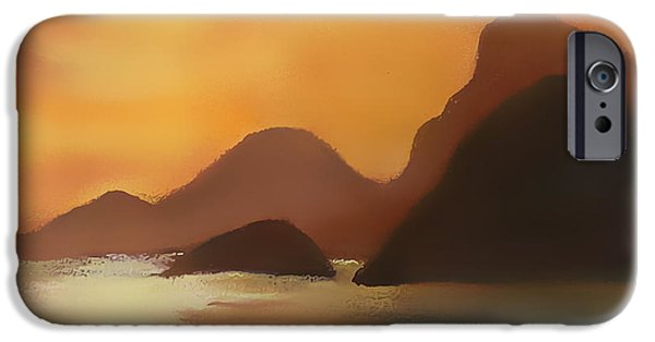 Nature Abstract iPhone Cases - Warm Sunset iPhone Case by Florentina Maria Popescu