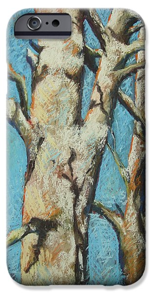 Winter Scene Pastels iPhone Cases - Warming Light iPhone Case by Marlene Gremillion
