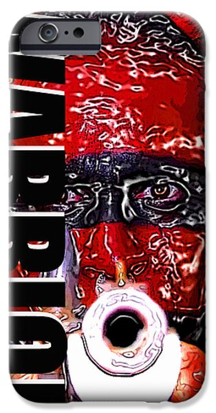 Armed Services iPhone Cases - Warrior red and black work one iPhone Case by David Lee Thompson