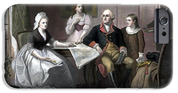 Martha iPhone Cases - Washington And His Family iPhone Case by War Is Hell Store
