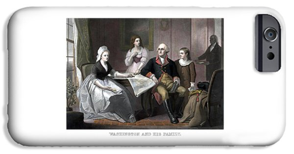 American Revolution iPhone Cases - Washington And His Family iPhone Case by War Is Hell Store
