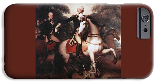 Yorktown Virginia iPhone Cases - Washington Before Yorktown iPhone Case by Rembrandt Peale