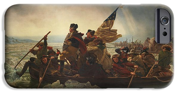 President iPhone Cases - Washington Crossing The Delaware iPhone Case by War Is Hell Store