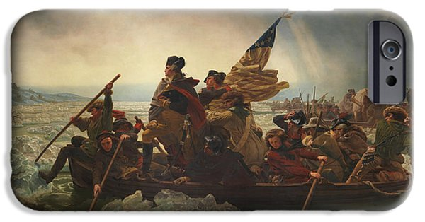 George Washington iPhone Cases - Washington Crossing The Delaware iPhone Case by War Is Hell Store
