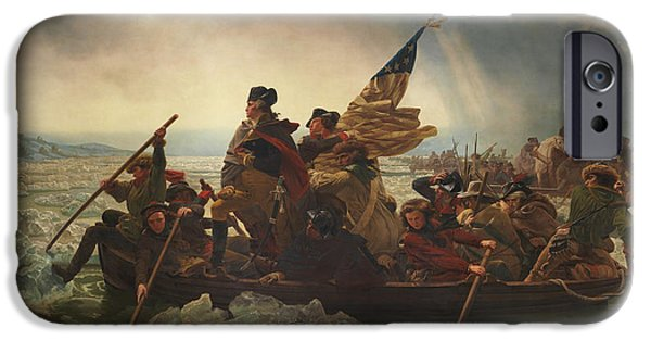 Patriots iPhone Cases - Washington Crossing The Delaware iPhone Case by War Is Hell Store