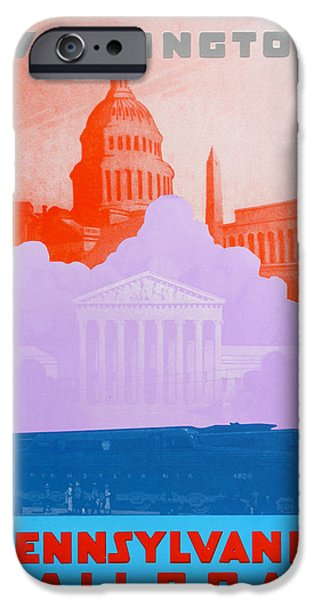 Landmarks Drawings iPhone Cases - Washington DC IV iPhone Case by David Studwell
