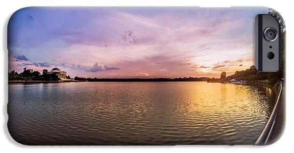 D.c. iPhone Cases - Washington D.C Tidal Basin Sunset iPhone Case by Chris Bordeleau