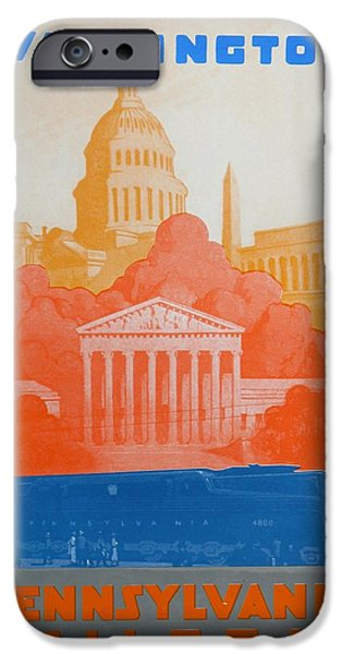 Landmarks Drawings iPhone Cases - Washington DC V iPhone Case by David Studwell
