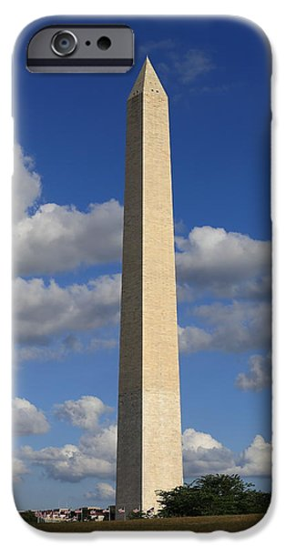 President iPhone Cases - Washington Monument iPhone Case by  Carlos Cano