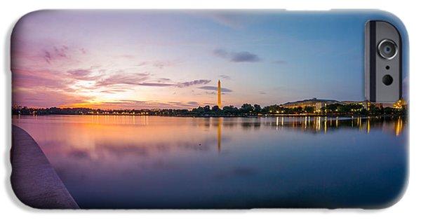 D.c. iPhone Cases - Washington Monument Twilight iPhone Case by Chris Bordeleau