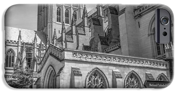 Facade iPhone Cases - Washington National Cathedral  v2b iPhone Case by John Straton