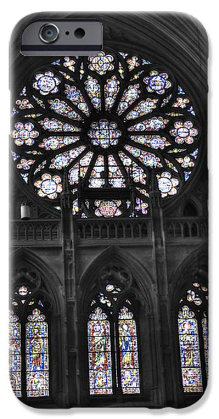 Facade iPhone Cases - Washington National Cathedral  v3s iPhone Case by John Straton