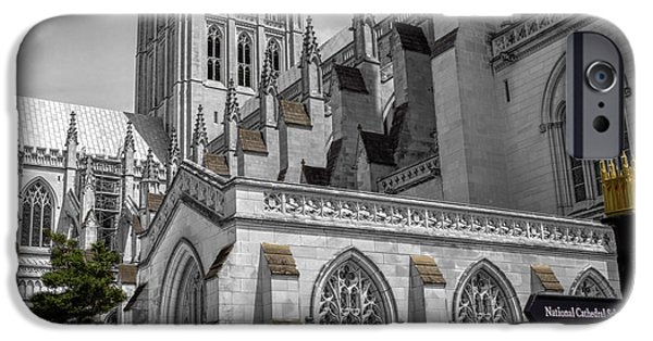 Facade iPhone Cases - Washington National Cathedral  v4s iPhone Case by John Straton