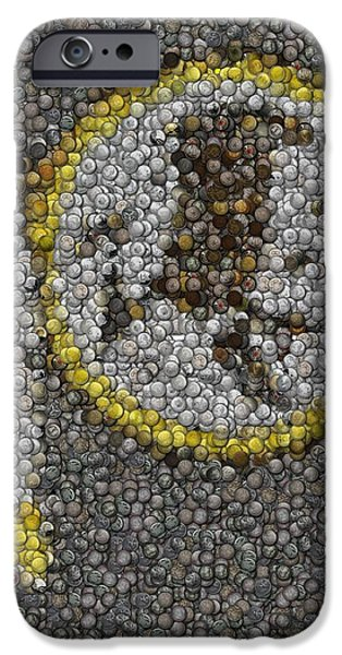 Coins Mixed Media iPhone Cases - Washington Redskins Coins Mosaic iPhone Case by Paul Van Scott