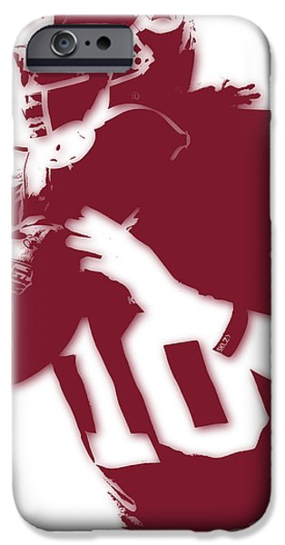 Griffin iPhone Cases - Washington Redskins Robert Griffin Jr iPhone Case by Joe Hamilton