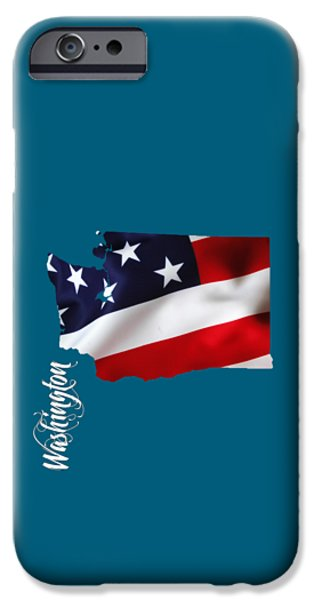 Usa iPhone Cases - Washington State Map Collection iPhone Case by Marvin Blaine