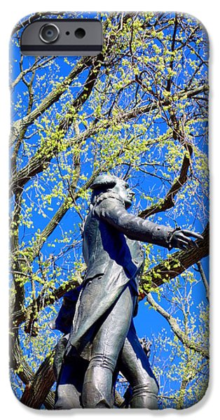 Constitution iPhone Cases - Washington Statue iPhone Case by Valentino Visentini
