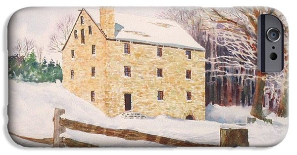 Grist Mill iPhone Cases - Washingtons Grist Mill iPhone Case by Tom Harris
