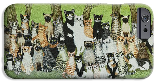 Photos Of Cats iPhone Cases - Watch the Birdie iPhone Case by Pat Scott