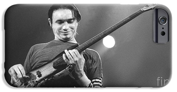 Pastorius iPhone Cases - Watching fingers iPhone Case by Philippe Taka
