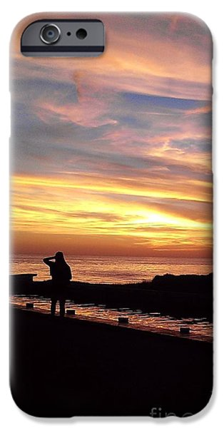 Patriots iPhone Cases - Watching the sun go down iPhone Case by Hannah Johnson